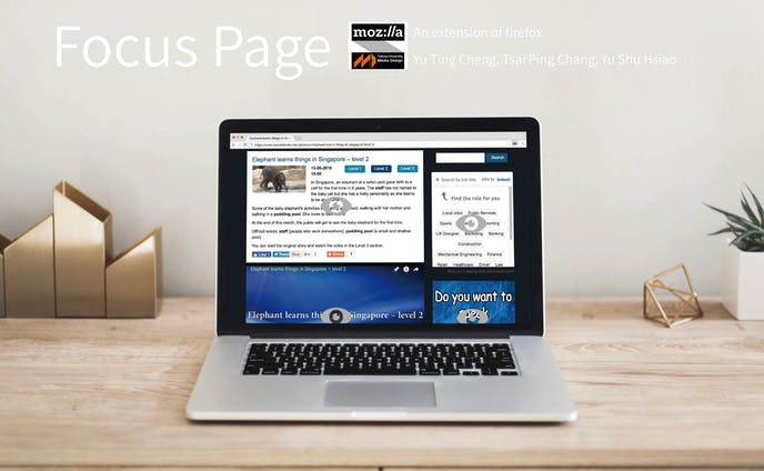Service|Focus Page|firefox browser extension