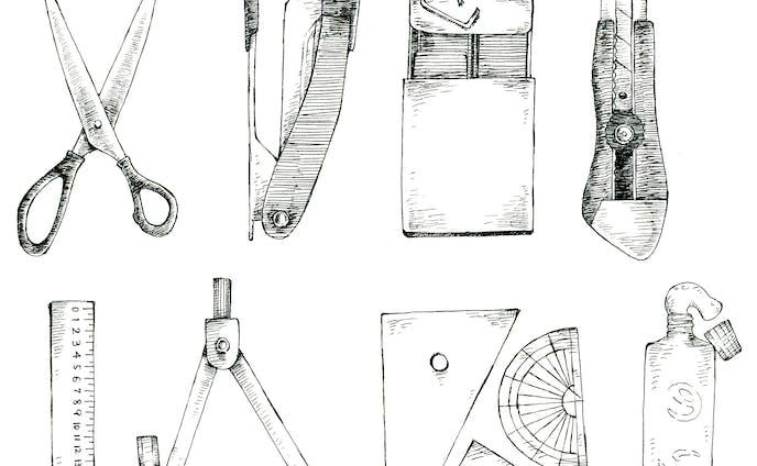 イラスト・デザイン、ペン画