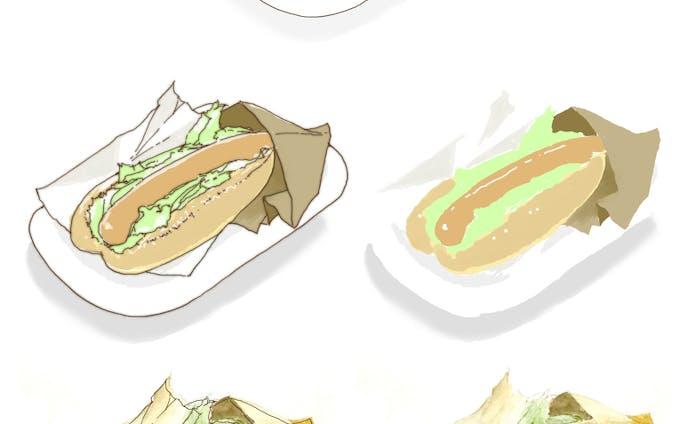 【素材作例】食べ物