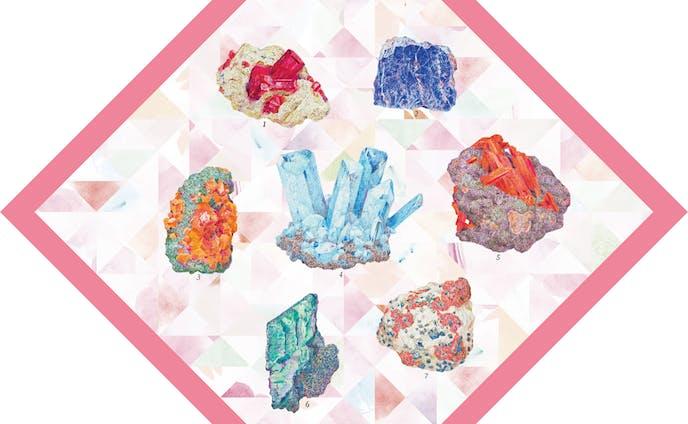 鉱物図譜(日本百貨店「晴」のための包装紙)