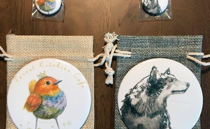 コマドリと狼の手鏡(手鏡・雑貨)