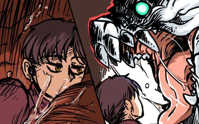 vore漫画(ラフめ・カラー)