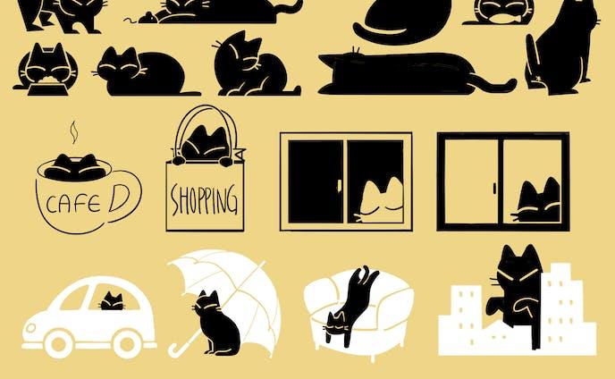 黒猫ism -LINEスタンプ-