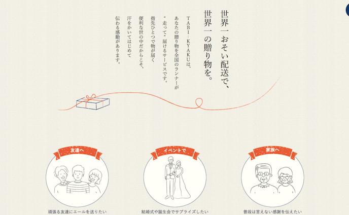 TABI-KYAKU 想いが旅する飛脚便
