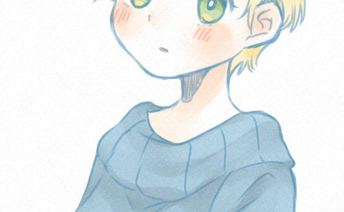 セーターの少女(ラフ)