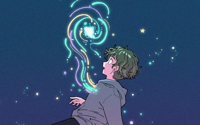 [original illust] 溢れ出す魔法