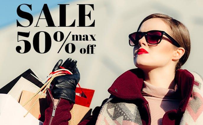 高級ブランド取り扱いファッションモールサイトのSALE告知 バナー