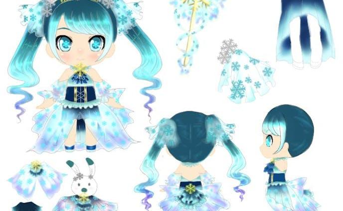 雪ミク2019 衣装デザイン