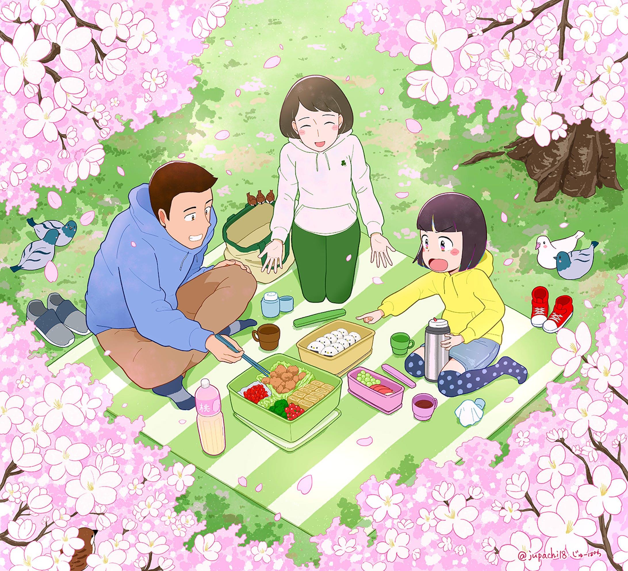 家族でお花見-1