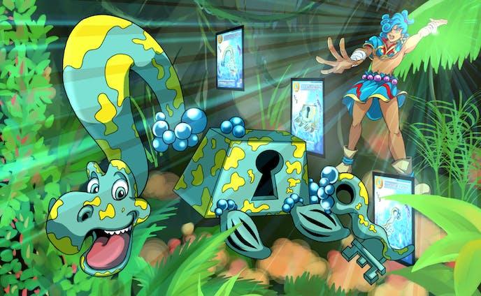 Elemental Puzzle TCG's flyer illustration