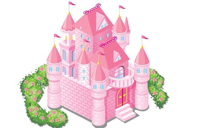 お城ピンク