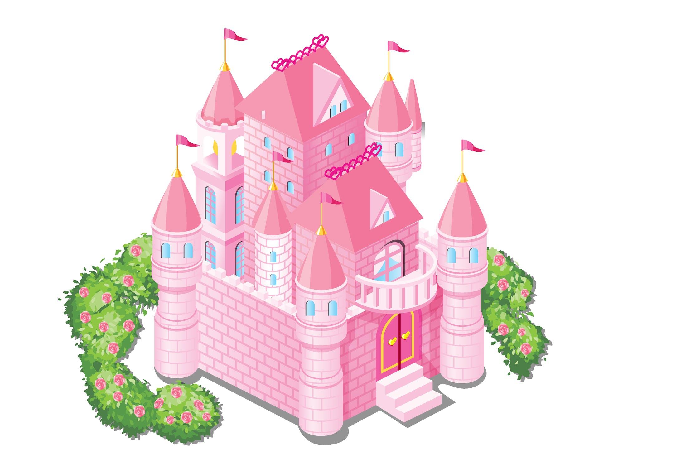 お城ピンク-1