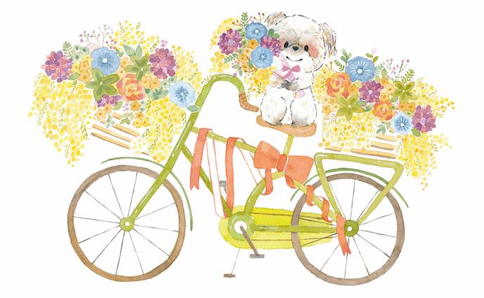 お花にかこまれて
