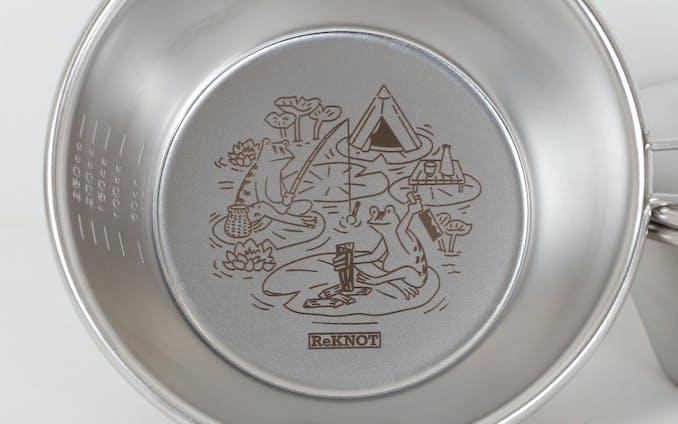 【イラスト】アウトドアブランド「ReKNOT」シェラカップ