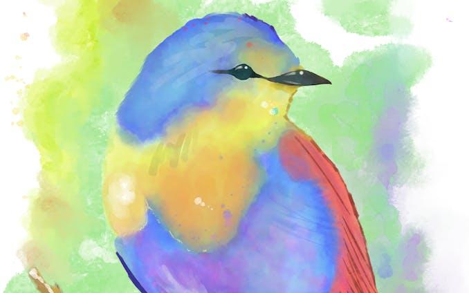 水彩イラスト(鳥)