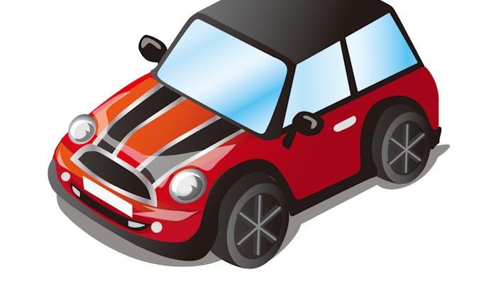車(ミニクーパー赤)