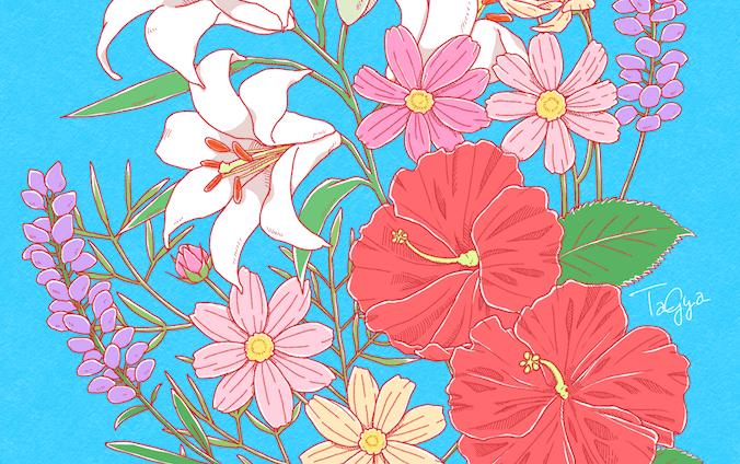 お花イラスト