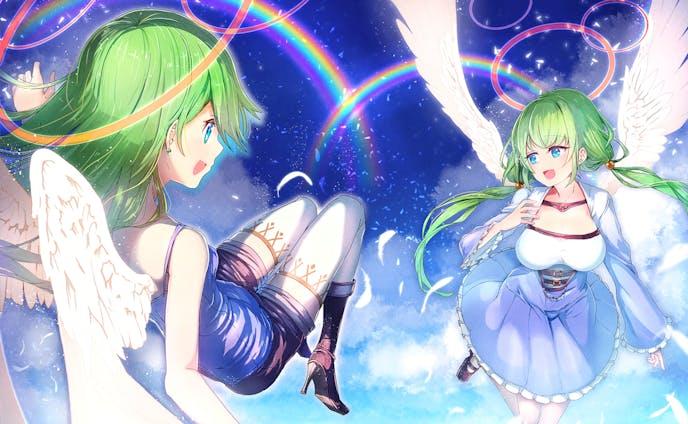 【オリジナル】虹と天使
