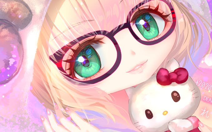 Sheep girl & Hello Kitty