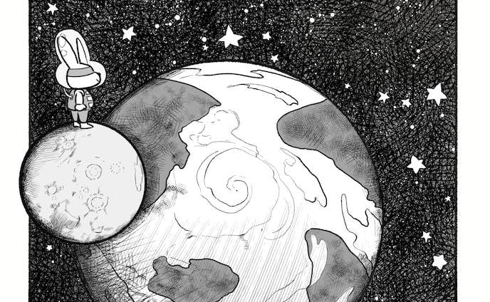 月とうさぎの地球観察