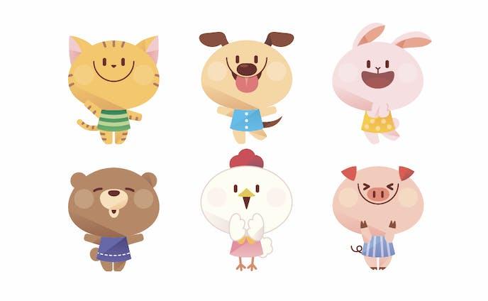 動物キャラクター