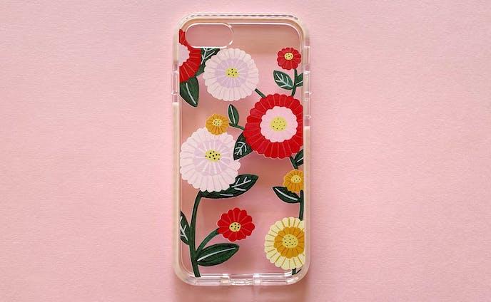 お花のトンネル iPhone クリアケース