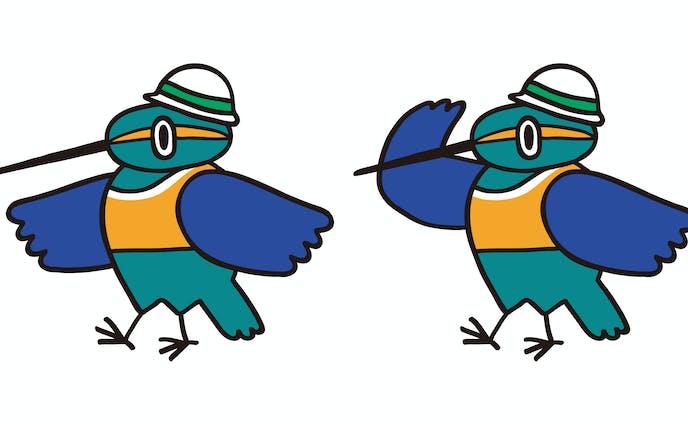 建設会社の鳥のキャラクター