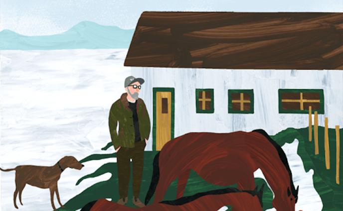 *朝の馬牧場