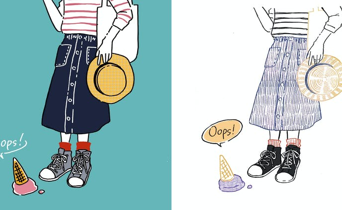 【ファッションイラスト】oops!