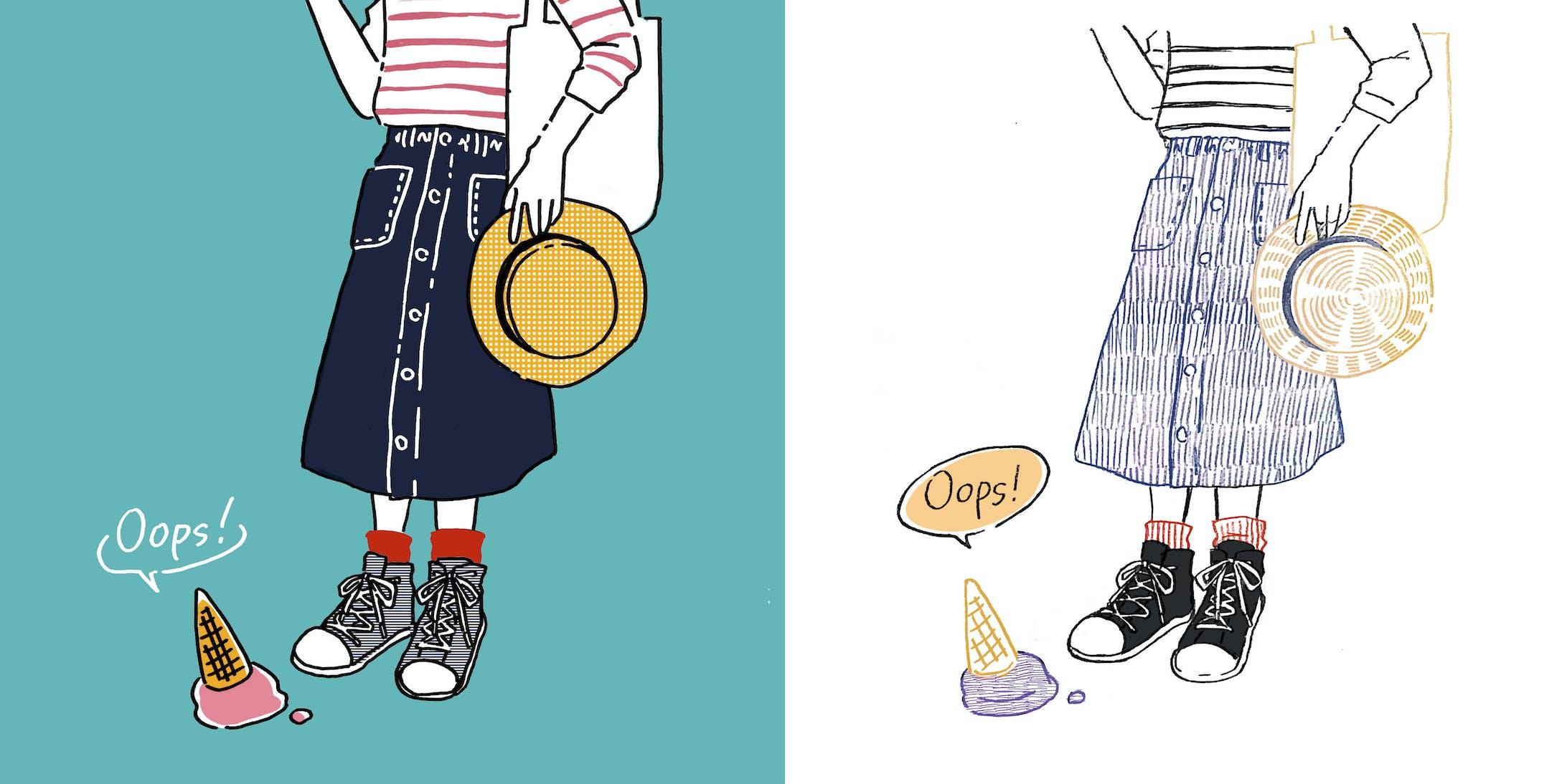 【ファッションイラスト】oops!-1