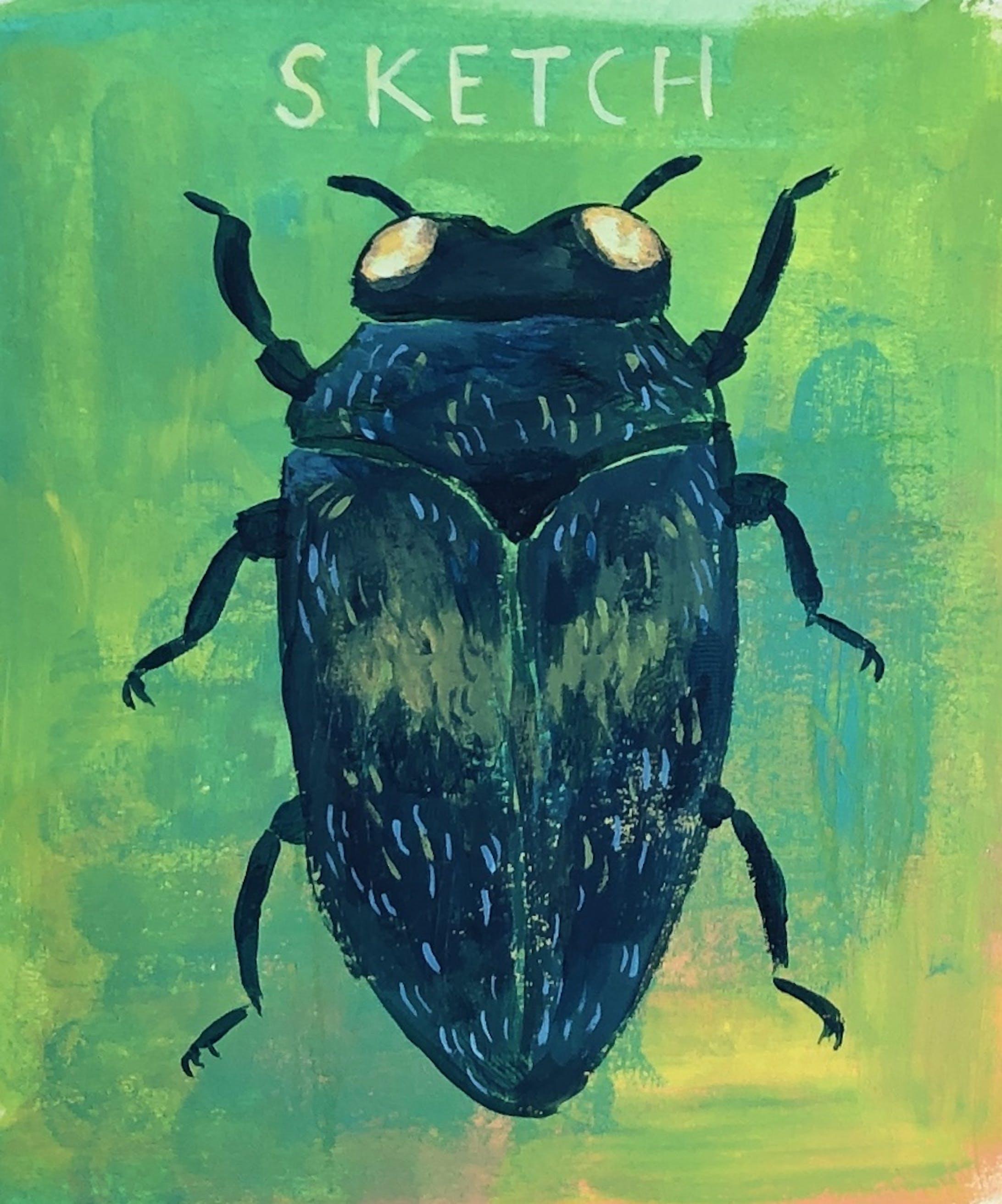 虫のスケッチ-1