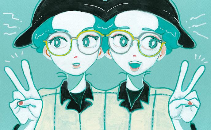 twins glasses