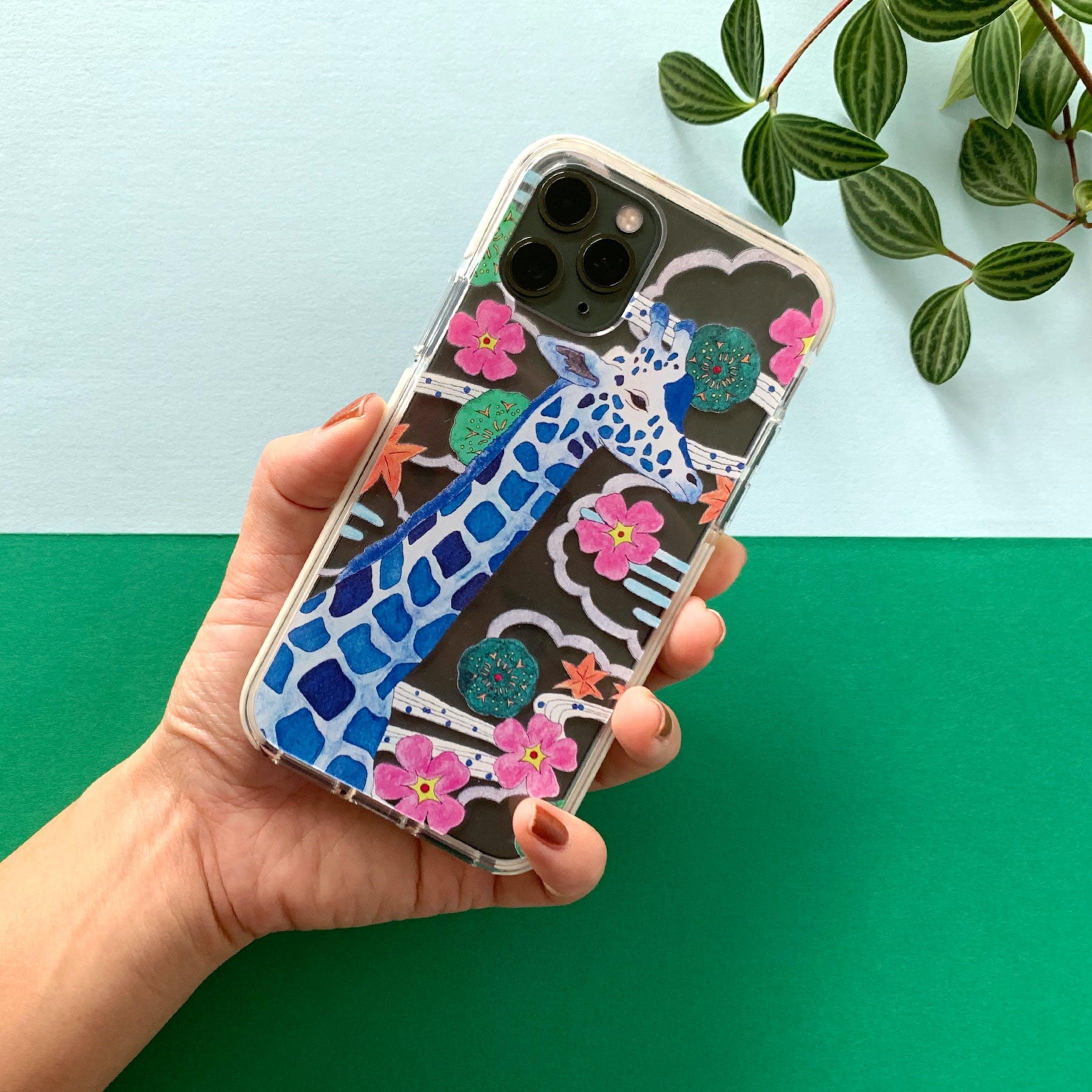夢見心地なキリン iPhone クリアケース-2
