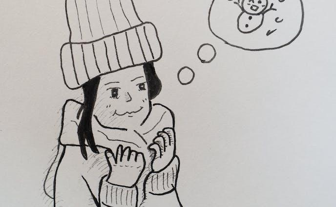冬を待つ女性