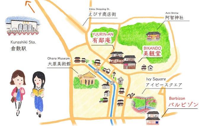 倉敷イラストマップ