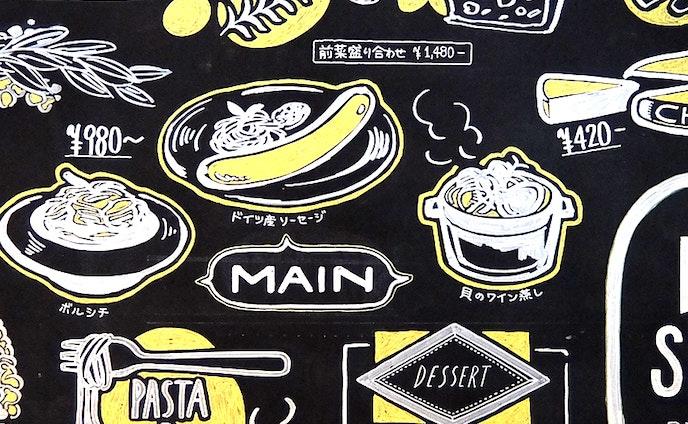 黒板ペイント:食事