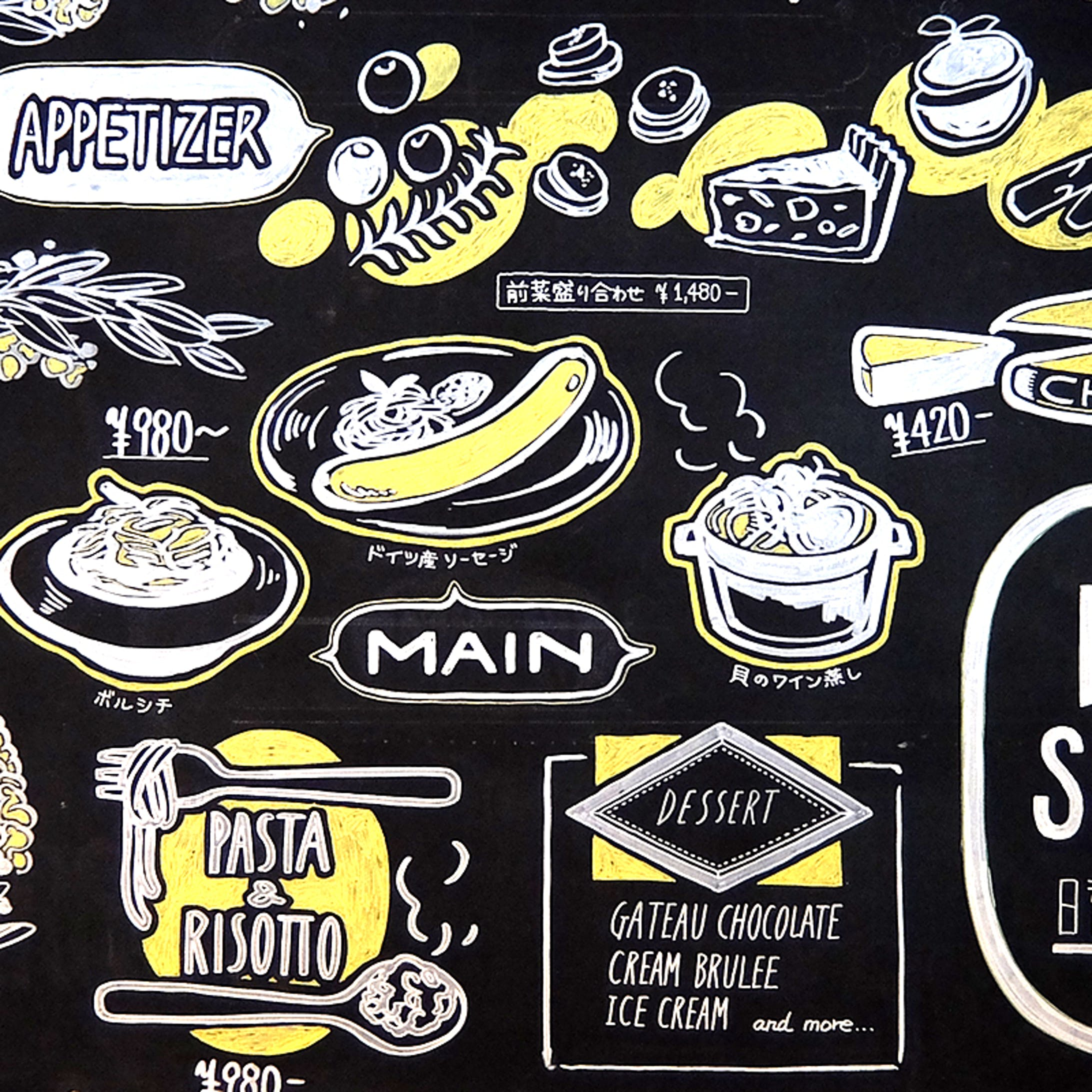 黒板ペイント:食事-1