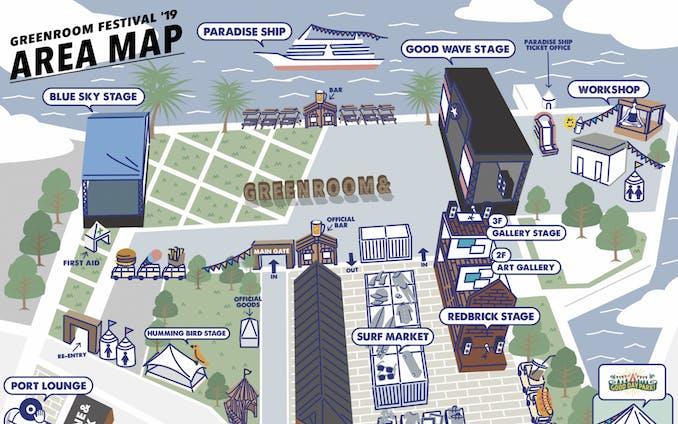GREENROOM FESTIVAL vol19 MAP