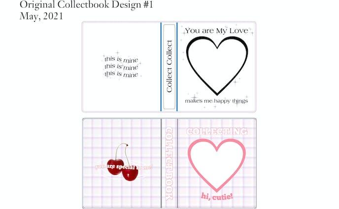 Original Collectbook 表紙・裏表紙 デザイン