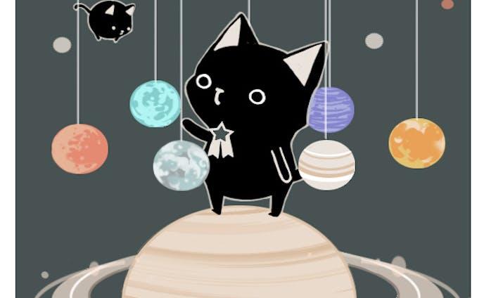 黒猫nyaの惑星飾り