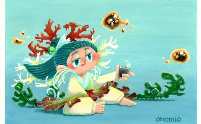 海藻サラダの妖怪