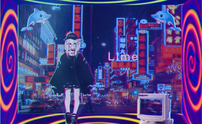 """コラージュ:Vaporwave Vtuber """"Lime"""""""