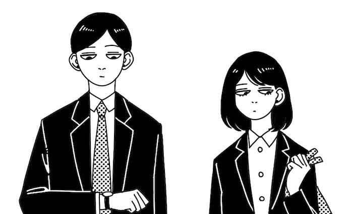 スーツの男女