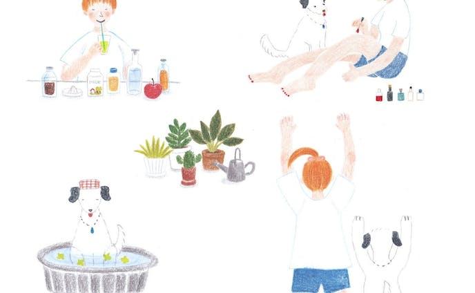 「初夏の過ごし方」挿絵サンプル