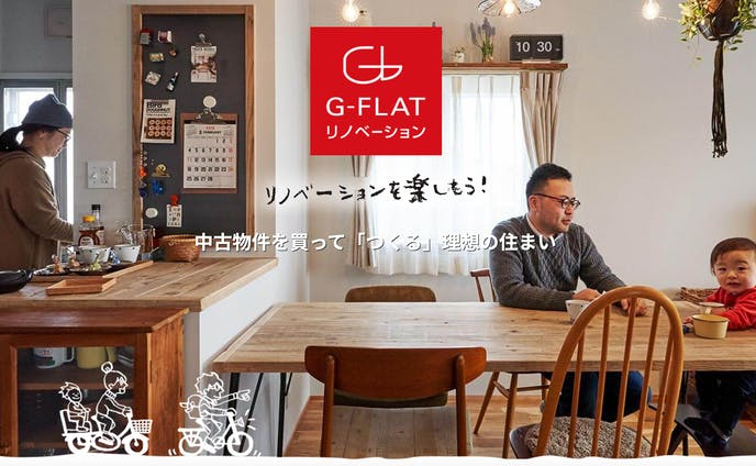 【Webサイト】神戸のリノベーション会社 G-FLAT株式会社様