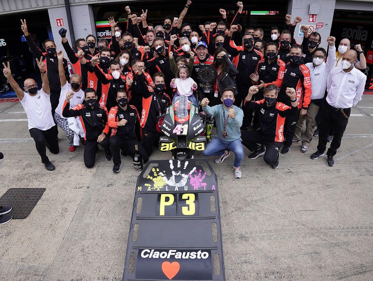 MotoGPコラム/MotoGPイギリスGP:アプリリアに最高峰クラス21年ぶりの表彰台をもたらしたA.エスパルガロと、その進化