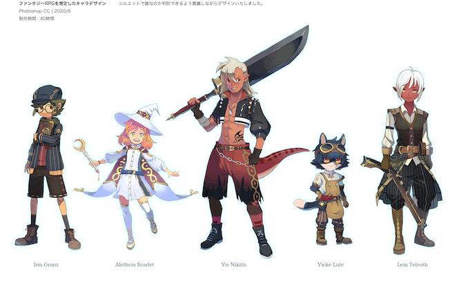 趣味でのキャラクターデザイン