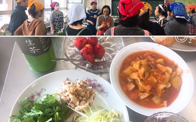 中学校PTA主催の料理教室講師