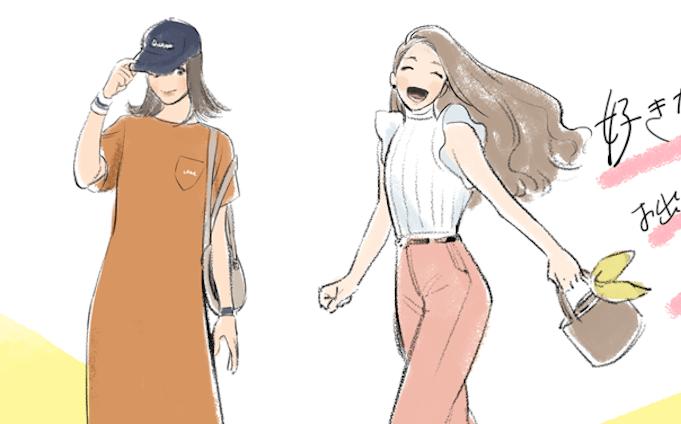 ファッション女性イラスト2