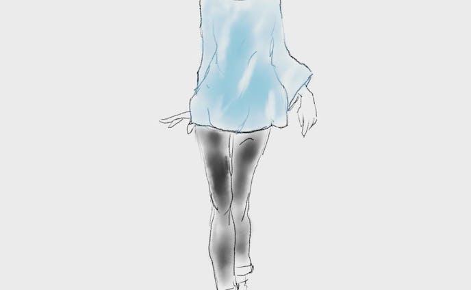 青系のファッションデザイン